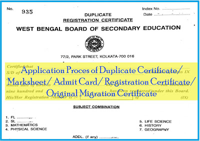 How to apply for Duplicate Certificate/ Marksheet/ Admit